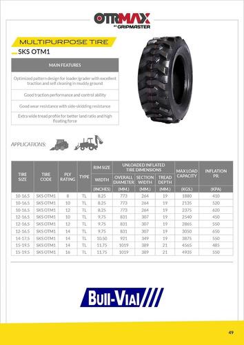 kit x2 cubierta minicargadora 10-16.5 10pr tl sks otm1