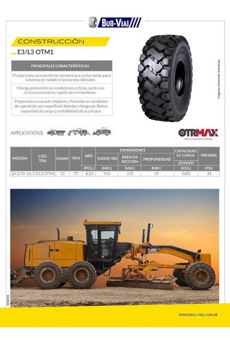 kit x2 cubierta otrmax 8.25 16 10pr tt e3/l3 otm1