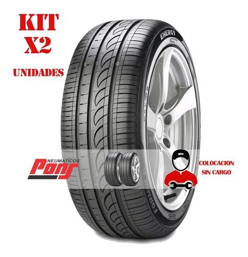 kit x2 cubiertas 175/65r14 82t pirelli f energy + colocación