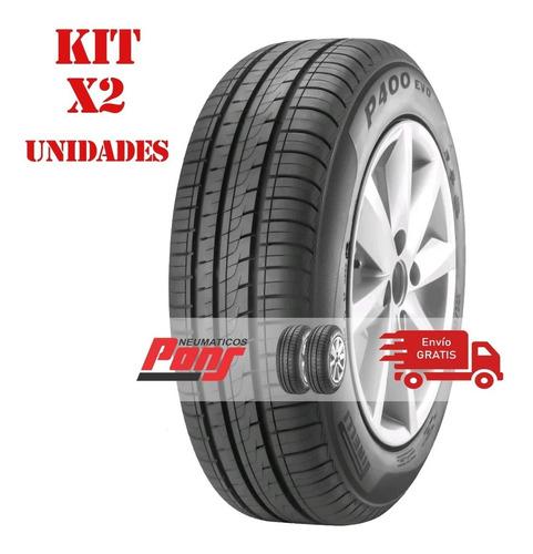 kit x2 cubiertas 175/65r14 82t pirelli p400 evo a 6 cuotas!!