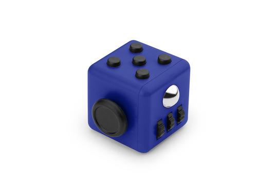 kit x2 fidget spinner antiestres cube forma-azul rey / negro