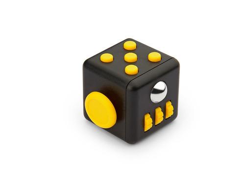 kit x2 fidget spinner antiestres cube forma-negro / amarillo