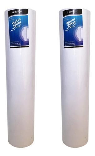 kit x2 membranas 20 pulgadas pp sedimentos 5 micras big blue