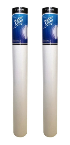 kit x2 membranas 20 pulgadas slim sedimentos pp filtro agua