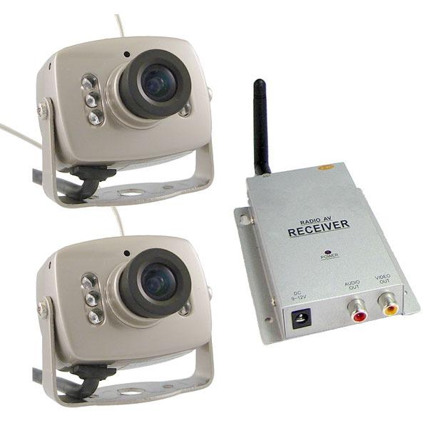 Kit x2 mini camaras inalambricas infrarojas espia - Camaras de vigilancia inalambricas ...