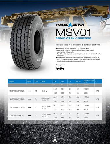 kit x2 neumaticos  16.00r25 msv01 174f(445/95r25)