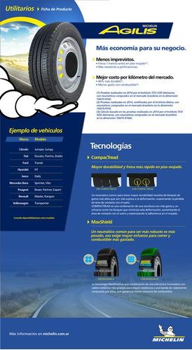 kit x2 neumáticos 195/75-16 michelin agilis mov 105r