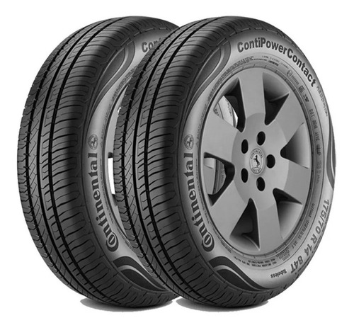kit x2 neumáticos continental 185/65 r15 88h contipowerconta