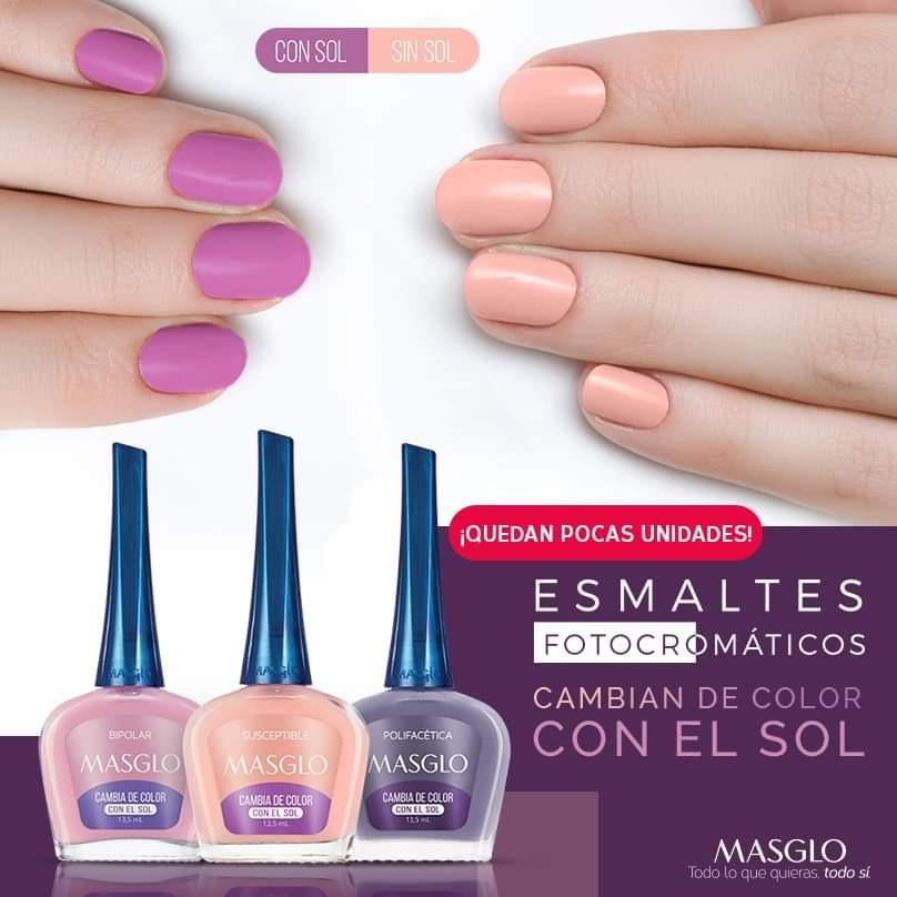 b49fbcbcba Kit X3 Esmalte Masglo Cambian De Color Con El Sol - $ 25.000 en ...