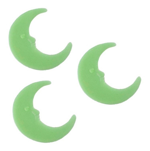 kit x3 lunas fluorescentes luminosas brillan en la oscutidad