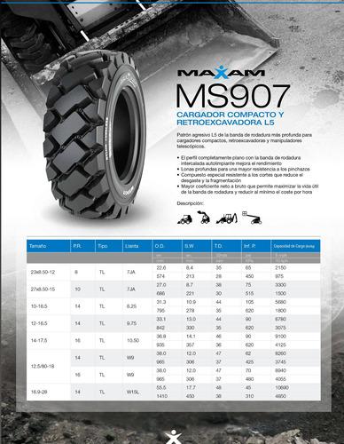 kit x4 12-16.5 ms907 skid steer 14 pr