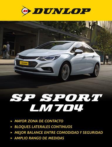 kit x4 185/60 r15 dunlop sp sport lm 704+colocación en+60suc