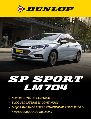kit x4 195/60 r15 dunlop sp sport lm704 +colocacion en 60suc
