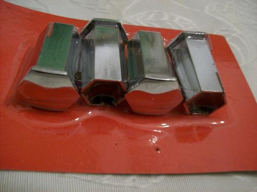 kit (x4) cubre bulones cromados 17 x 36.5 mm para peugeot