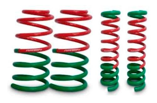 kit x4 espirales resortes progresivos rm p/ chevrolet corsa