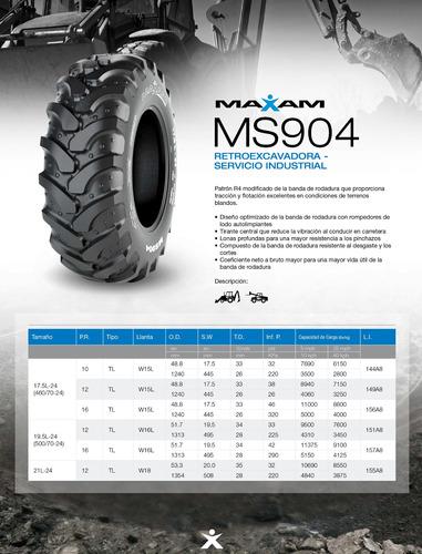 kit x4 neumaticos  19.5l-24 ms904 12pr