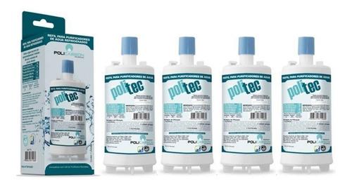 kit x4 refil filtro purificador de água esmaltec - acqua7