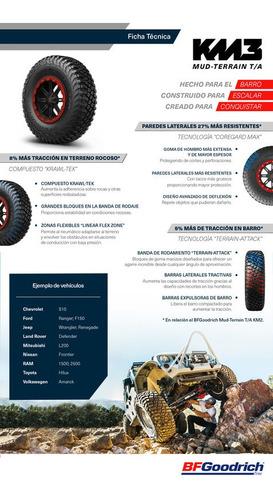 kit x5 neumáticos 30x10.0-14 bf goodrich mud terrain km3 utv