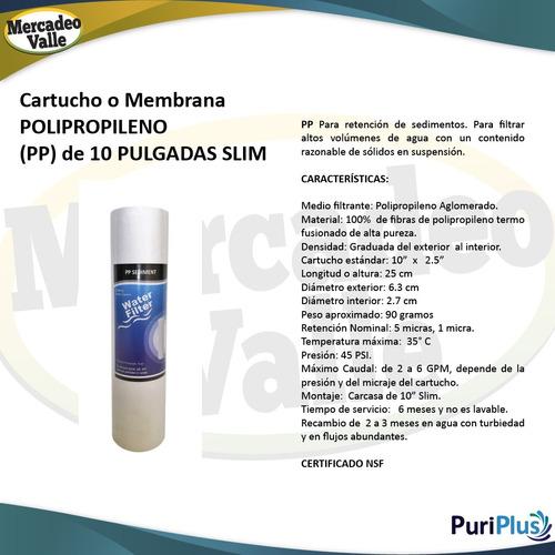 kit x50 membranas polipropileno 10 pulgadas filtro agua