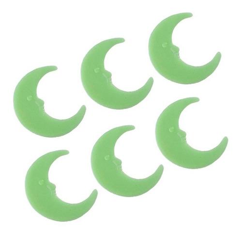 kit x6 lunas fluorescentes luminosas brillan en la oscutidad