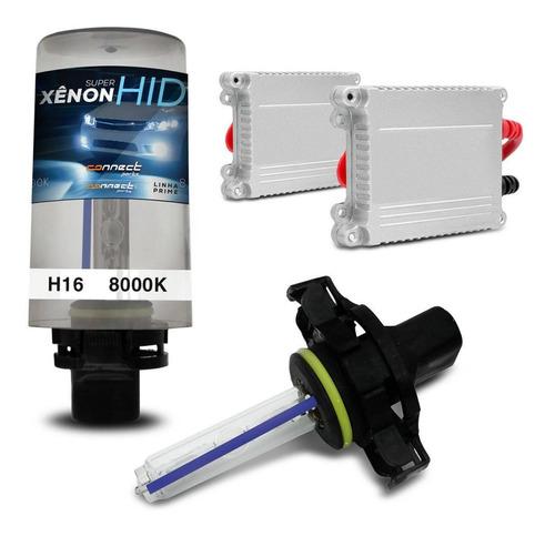 kit xenon h16 8000k carro lampada luz farol milha tuning