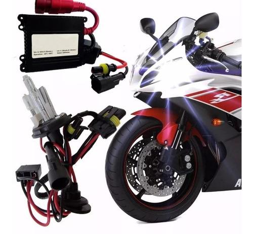 kit xenon h4 moto reator slim 8000k
