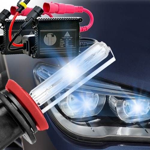kit xenon hid  6000k h1. marca tech one plug and play