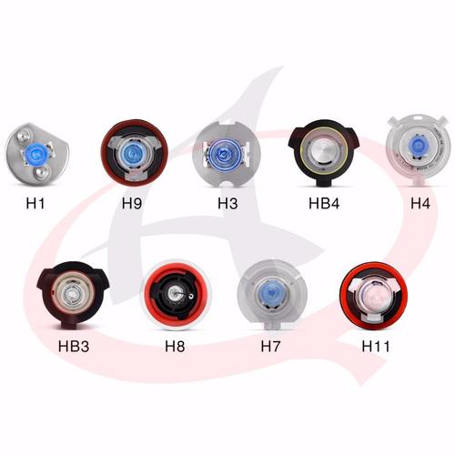 kit xenon lampada led h1 h3 h4 h7 h11 hb3 6000k