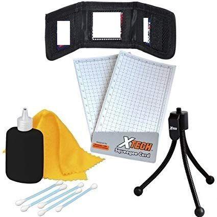 kit xtech de tripode set limpiador y porta tarjeta memoria