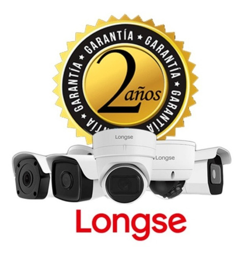 kit xvr 4ch + 4 cámaras de seguridad 2mp longse + termómetro