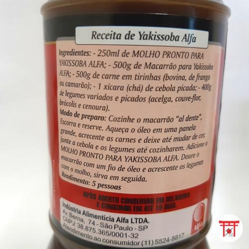 kit yakissoba (macarrão, molho, óleo de gergelim)+molho tarê