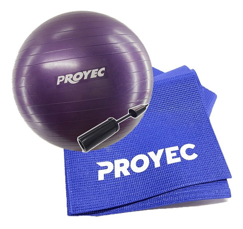 kit yoga esferodinamia 75 + inf + mat 4 mm plegable proyec