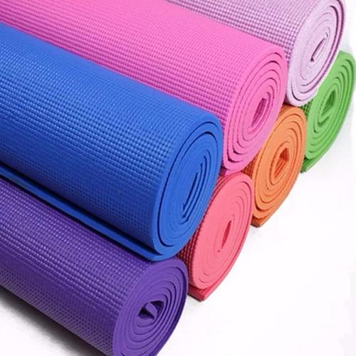 kit yoga /pilates pelota esferodinamia 65 cm + mat yoga 6 mm