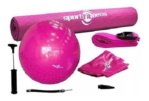 kit yoga sportfitness balón pilates gym-banda-riata-tapete.