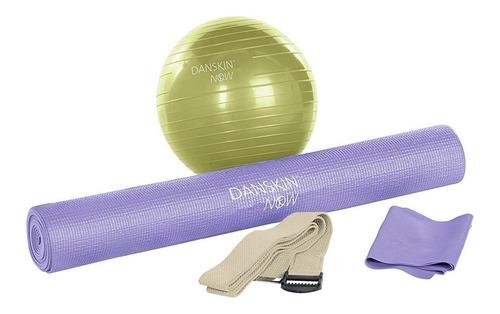 kit yoga, tapete, pelota, correa y cinta danskin