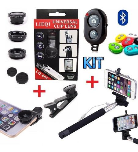 kit youtuber 12x1 tripé 1,30m lapela celular lente universal