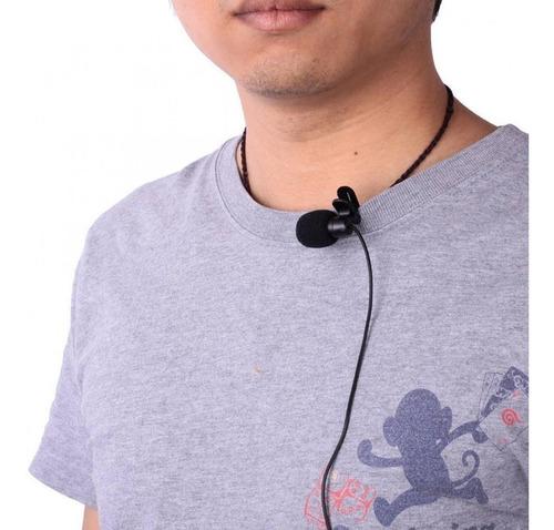 kit youtuber 5 em 1 microfone lapela celular + flash lentes