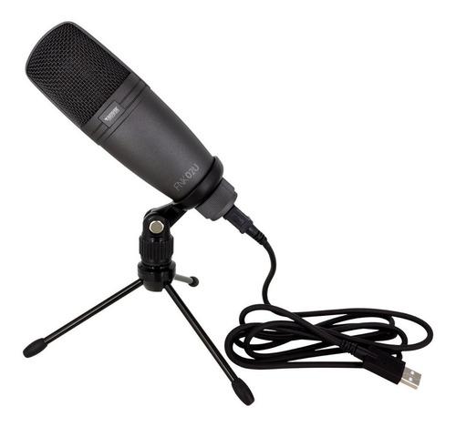 kit youtuber fone ouvido + microfone usb profissional novik