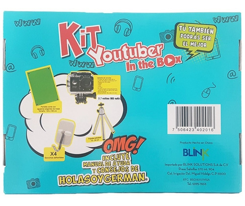 kit youtuber in the box hola soy german envío incluido