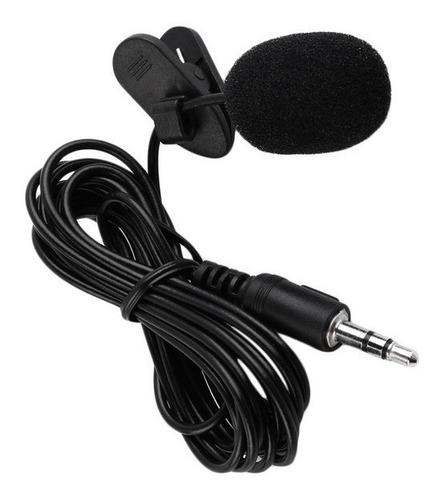 kit youtuber microfone de lapela celular + mini tripé flash