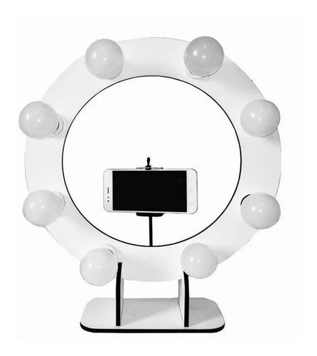 kit youtuber tripé 1,20 m + anel de luz selfie + mini tripe