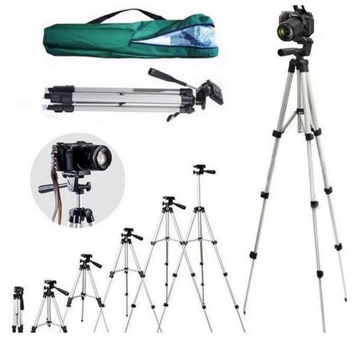 kit youtuber tripé 1,30m semi profissional com acessórios