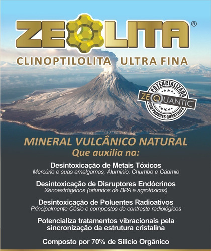 kit zeólita standard 3x250g potencializada - detox natural