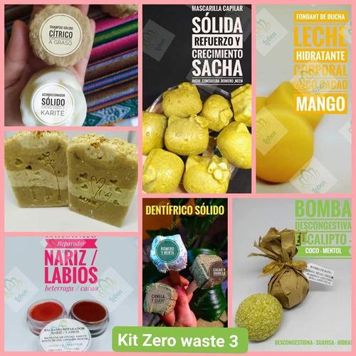kit zero waste ,cabello ,cuerpo ,crema , tratamiento,natural