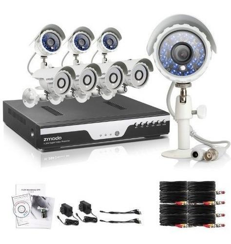 kit zmodo hd 8 ch 960h 8 cámara seguridad 600tvl cctv. ext/i