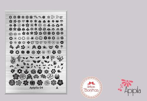 kit03 placas unicórnios_sereias_a01 + grátis carimbo+esmalte
