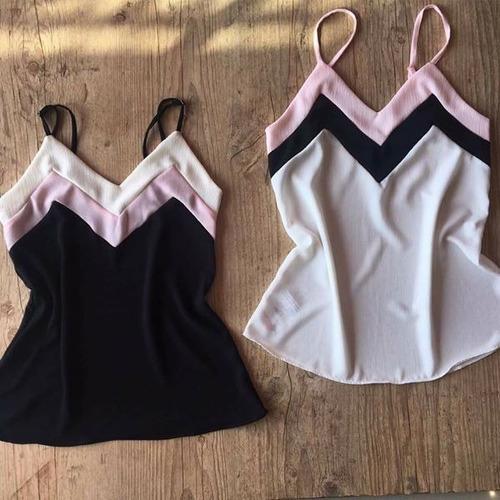 kit1 blusa alcinha + 1 short feminino envelope conjunto