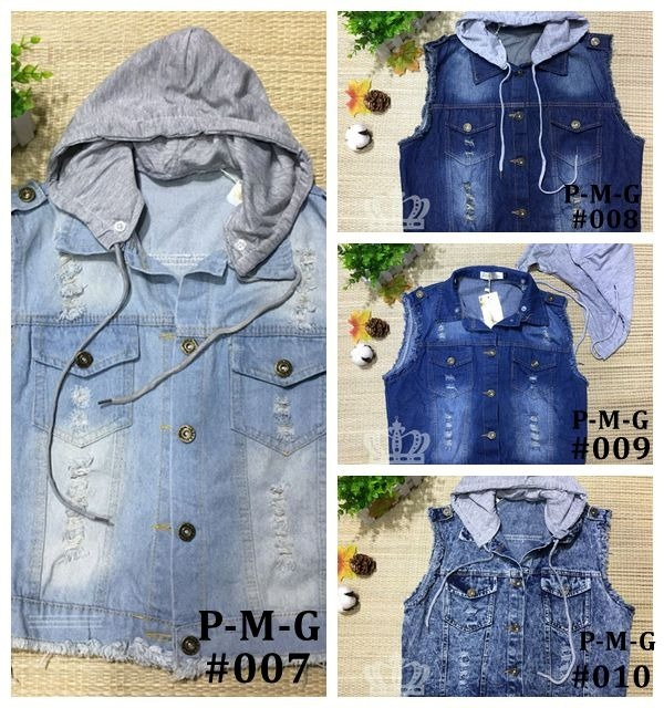 6288c40420 Kit10 Coletes Jeans Curto Feminino Atacado Revenda - R  388