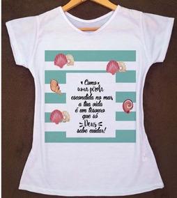 a967b64fb T Shirt Feminina Gospel - Calçados, Roupas e Bolsas com o Melhores Preços  no Mercado Livre Brasil