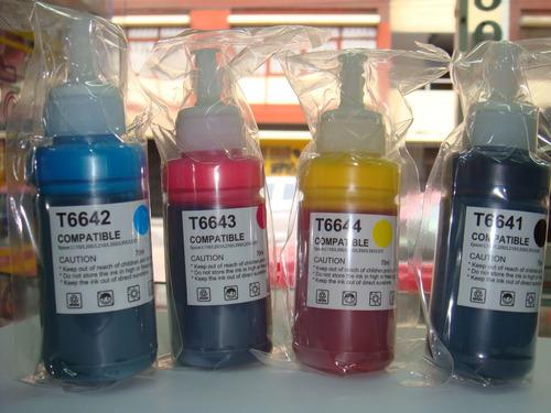kit*4 bots. tinta p/epson  l110/ l1300/l210/l350/ l355/ l555